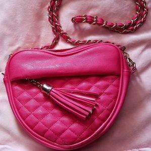 Forever 21 Pink Heart Shaped Shoulder bag